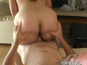 BBW With Huge Tits Hungry For Cock