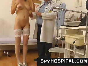 A spy cam in gyno exam clinic