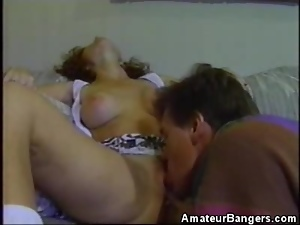 Big Natural Tit Amateur Gets Her Pussy Licked