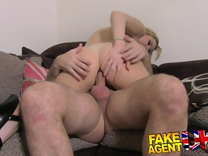 FakeAgentUK Stunning portuguese chick gets facial
