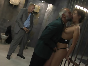 A pair of grandads get some sweet pussy