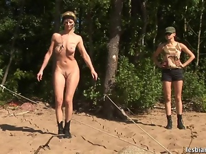 Lesbian army recruit put through her paces