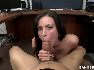 Kendra Lust loves slurping on this stiff skin flute