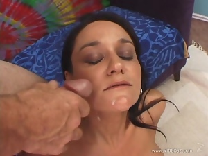 Sami Scott gets her face drenched with hot cum