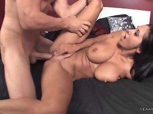 Ava Addams takes this hard dick deep in her moist pussy