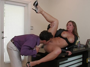 MILF boss Devon Lee banged across the desk