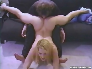 Flexible hot blonde gets her pussy eaten lustily