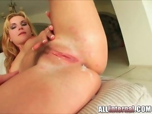 Hairy pussy pumped full of steamy cum