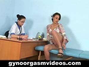 Lesbian doctor and sexy patient