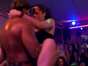 Horny party sluts at orgy fucked