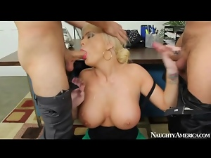 Office threesome with Alexis Ford pounded