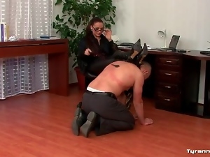 Humiliation and back flogging of submissive man