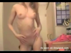 Tiny tits and tight ass on this dancing chick