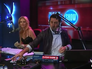 Radio show with topless girls playing games