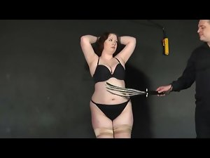 Fat chick stripped down and flogged hard