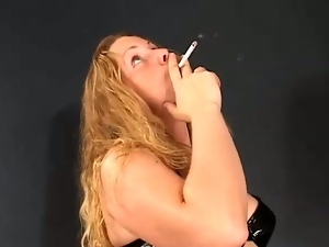Plumper getting nude horny while smoking