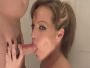 Hot blowjob from milf mia