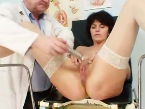 Doctor gives grandma radima a full ass examination