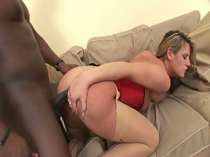 Black cock junkie kia winston gets ass drilled