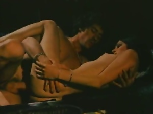 Classical hairy babe gets fucked by a hard cock.