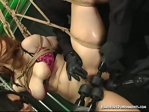 Japanese sex slave gets bound and perverted