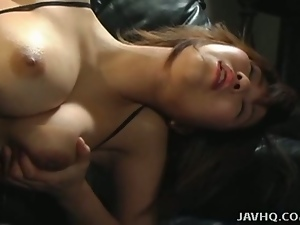Big tits asian masturbates with a vibrator