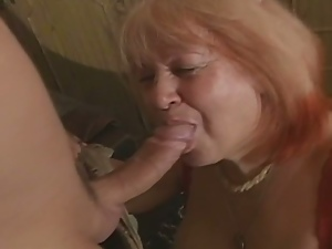 Fat european granny loves cock in her cunt