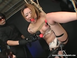 Japanese sex slave gets suspended and tortured
