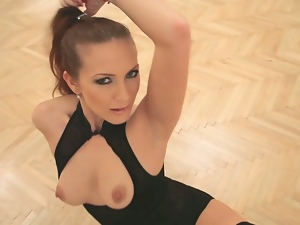 Hungarian milf strips entirely naked