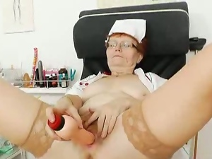 Naughty redhead nurse jindriska is having fun