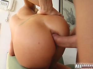 Angelina spreads her legs and gets banged deep