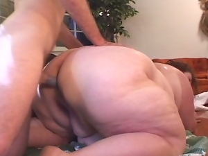 Obese mature banged hard