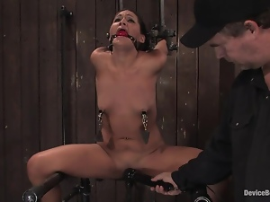 naughty babe is being punished for her behavior