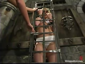 Blonde bitch gets punished and fucked in amazing BDSM video