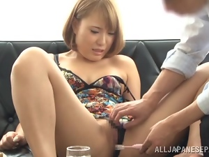 A steaming blowjob action is going on with that horny angel
