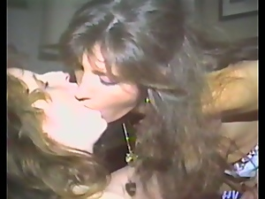 Nice lesbian flashback with two retro chicks