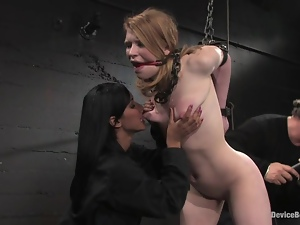 Madison Young gets tortured to orgasm in BDSM scene