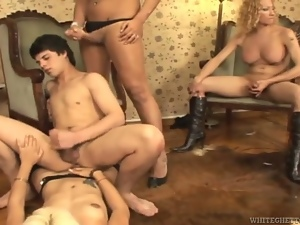 Compilation with wild trannies riding big hard cocks