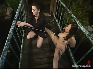 Poor Dana gets tortured and toyed in both holes by a mistress