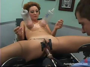 Horny MILF gets toyed deep at a medical examination