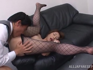 Smoking hot secretary Tamaki gets balled by her boss