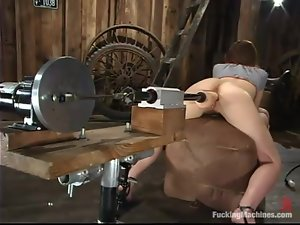 Sexy Paris Kennedy gets toyed deep in a wooden barn