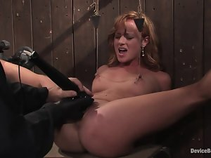 Kinky babe in strings is getting humiliated