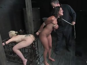 Incredible breast bondage for a sexy brunette Charly Chase