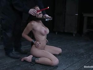 Felony gets her pussy lips stretched out in a hot BDSM video
