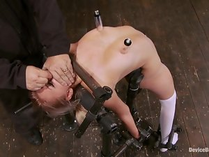 Sexy Katie Summers gets tortured and toyed in a barn