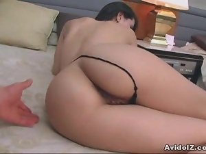 Sexy shaven Japanese babe gets fucked Uncensored