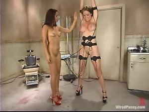 Gorgeous Christina Carter gets tortured by sexy dominatrix Isis Love