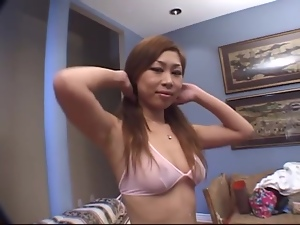 Japanese chick Yumi is enjoying it double