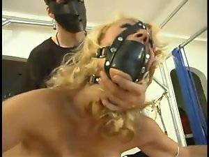 Insane device bondage for a sexy chick Stacy Burke